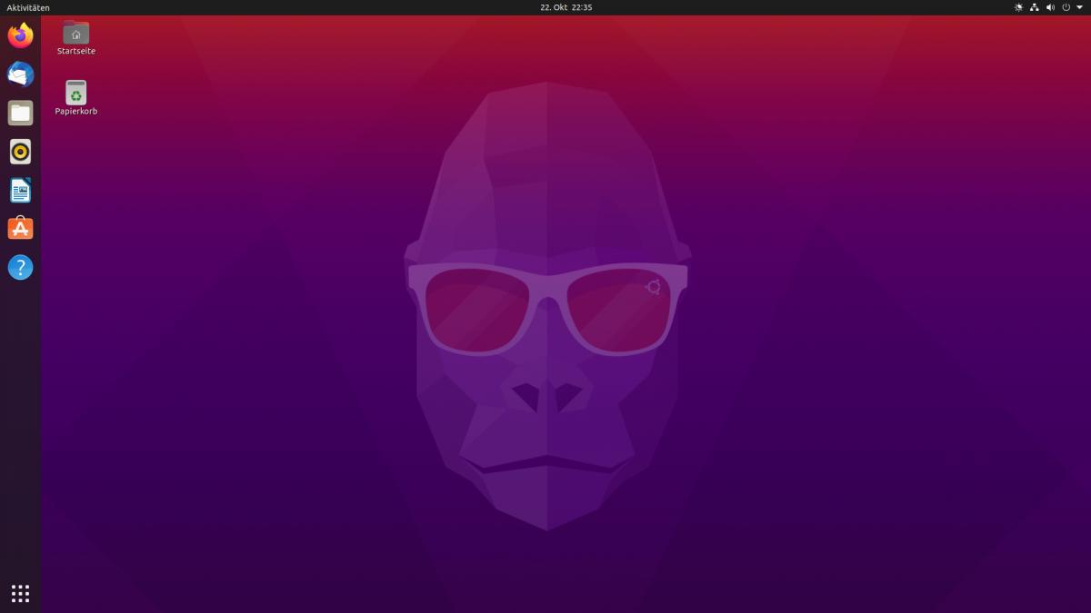 Bureau Ubuntu 20.10